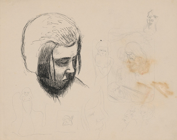 Mikuláš Galanda – Štúdia hlavy