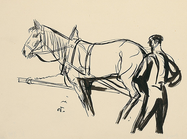 Jaroslav Vodrážka – Muž s koňom