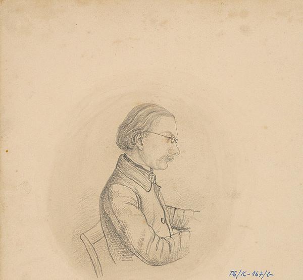 Slovenský kresliar z 3. štvrtiny 19. storočia – Portrét muža s okuliarmi