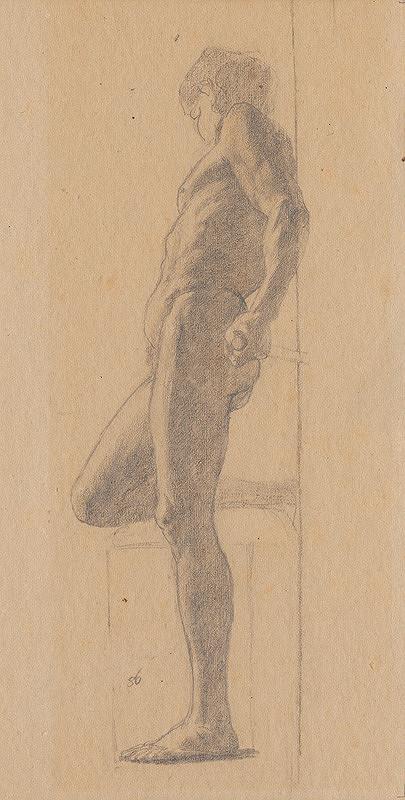 Ferdinand Katona – Stojaci mužský akt z profilu