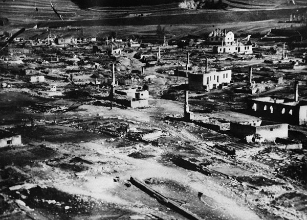 Neznámy autor – Partizánska obec Telgárt vypálená fašistami 30. 9. 1944