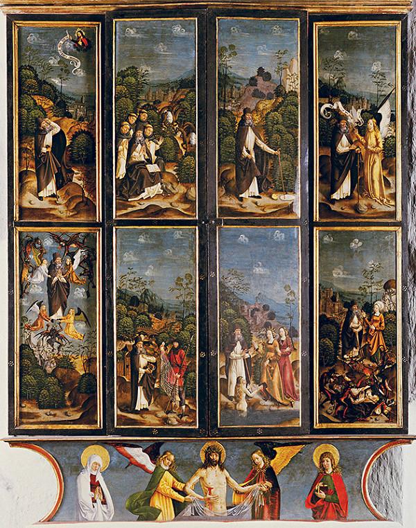 Majster legendy sv. Antona - Oltár sv. Antona - zatvorená skriňa