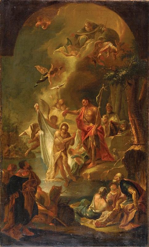 Johann Lucas Kracker - Krst Krista