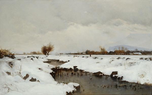 Antonín Chittussi – Zimní krajina