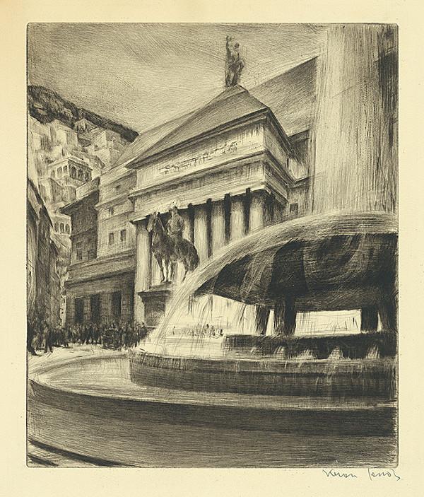Eugen Krón – Námestie s fontánou