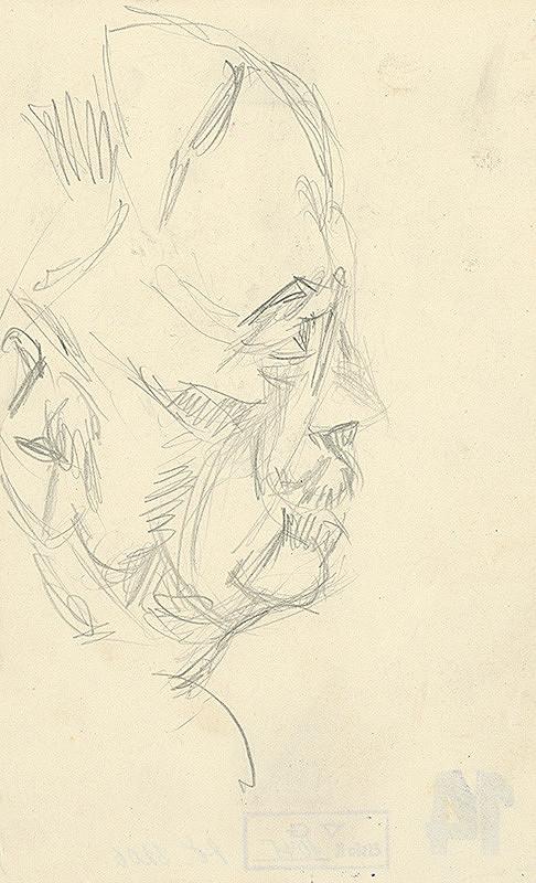 Konštantín Bauer – Hlava muža z profilu