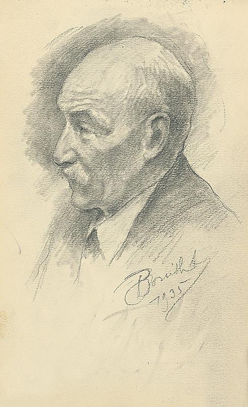 Andor Borúth - Štúdia mužskej hlavy v profile