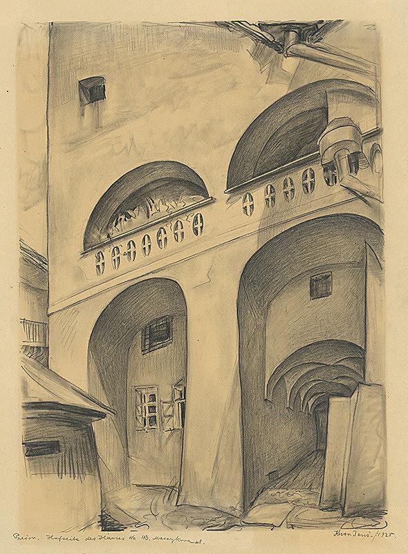 Eugen Krón - Zadná fasáda domu č.113 na Masarykovej ulici v Prešove