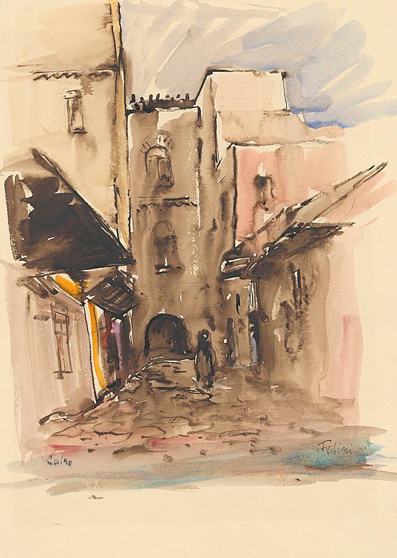 Jozef Fabini – Ulička v Cairu