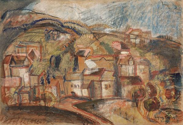 József Egry – Pohľad na mesto