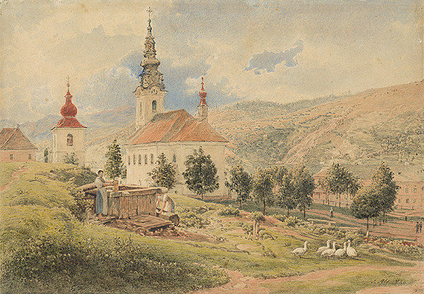 Jakob Alt – Dedinský kostolík