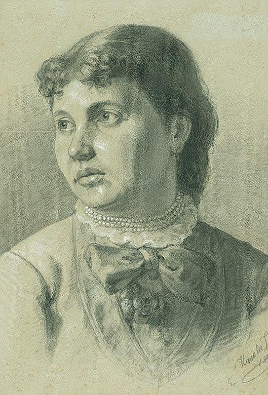 Jozef Hanula - Štúdia k podobizni dievčaťa