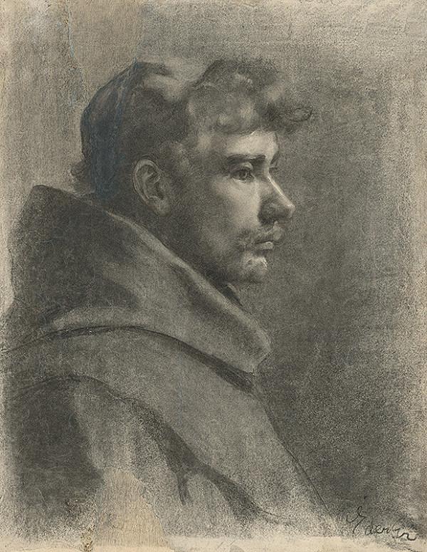 Július Éder - Štúdia k podobizni mladého mnícha