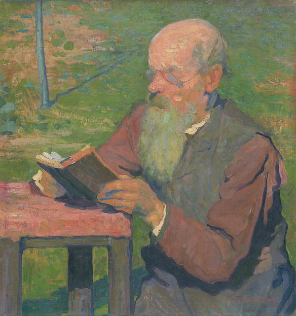 Elemír Halász-Hradil – Čítajúci starec