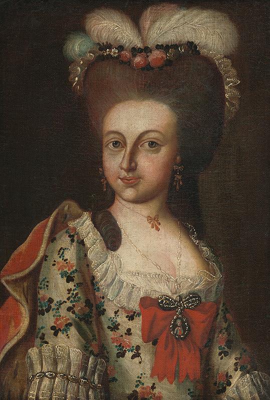 Stredoeurópsky maliar z 2. polovice 18. storočia – Dáma s vysokým účesom