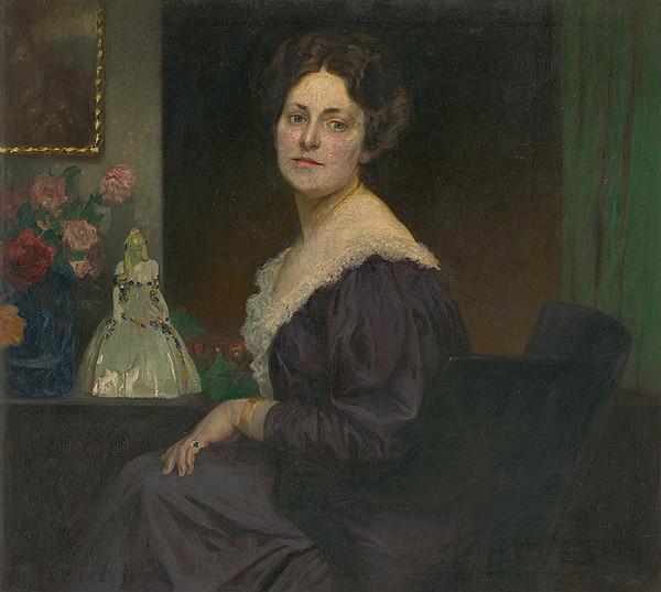 Slovenský maliar zo začiatku 20. storočia – Podobizeň sediacej ženy