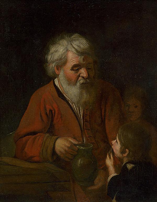 Slovenský maliar zo začiatku 20. storočia – Starec a dieťa