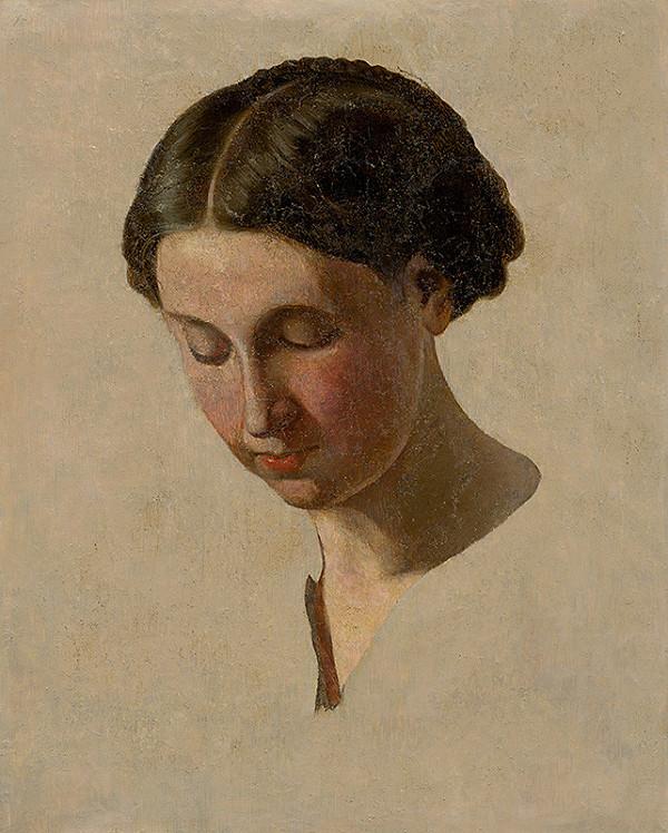 František Klimkovič - Štúdia hlavy dievčaťa