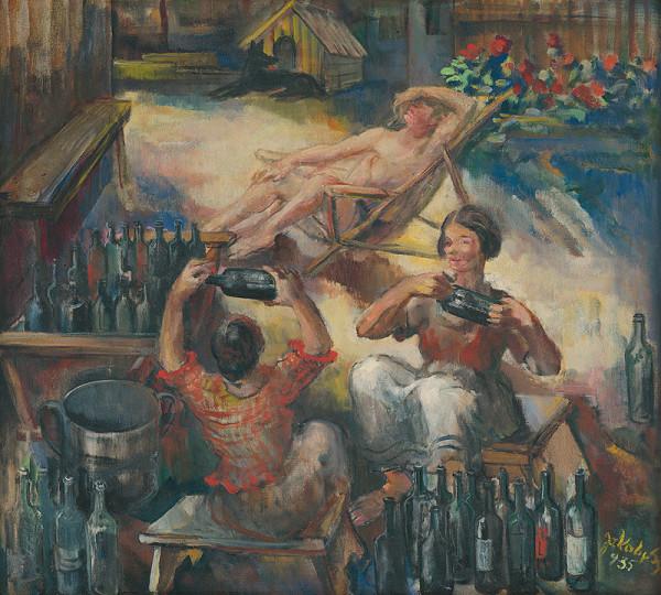 Július Jakoby - Umývanie fliaš