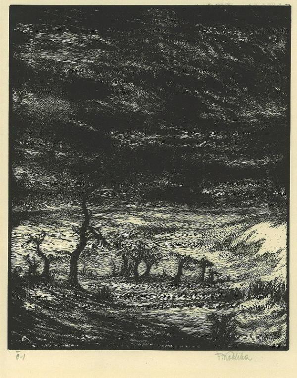 František Kobliha – Z cyklu Mstivá kantiléna (1.list)