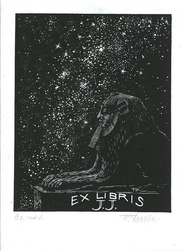 František Kobliha – Ex libris, J. J.