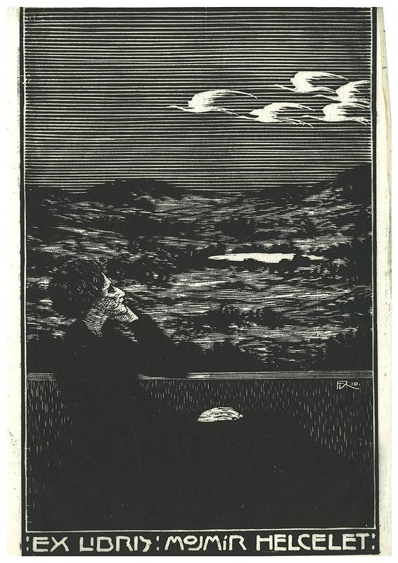 František Kobliha – Ex libris, Mojmír Helcelet