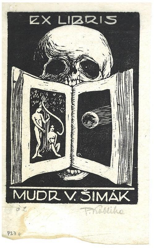 František Kobliha – Ex libris, MUDr. V. Šimák