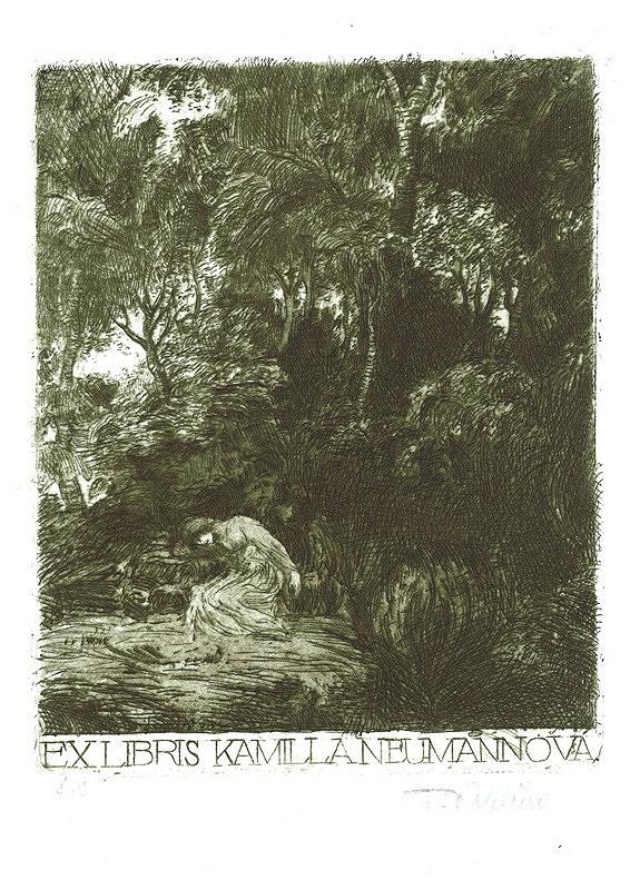 František Kobliha – Ex libris, K. Neumannová