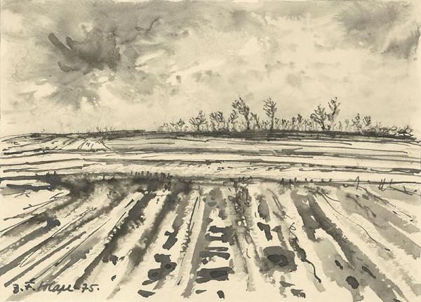 Josef Fafek-Solan – Tání v polích