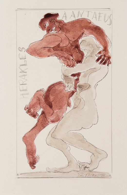 Emil Filla - Herakles a Antaeus