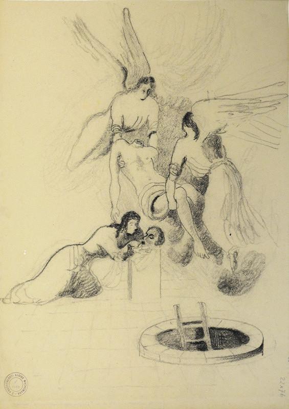 Alois Wachsman - Náčrtek k Sv. Janu Křtiteli