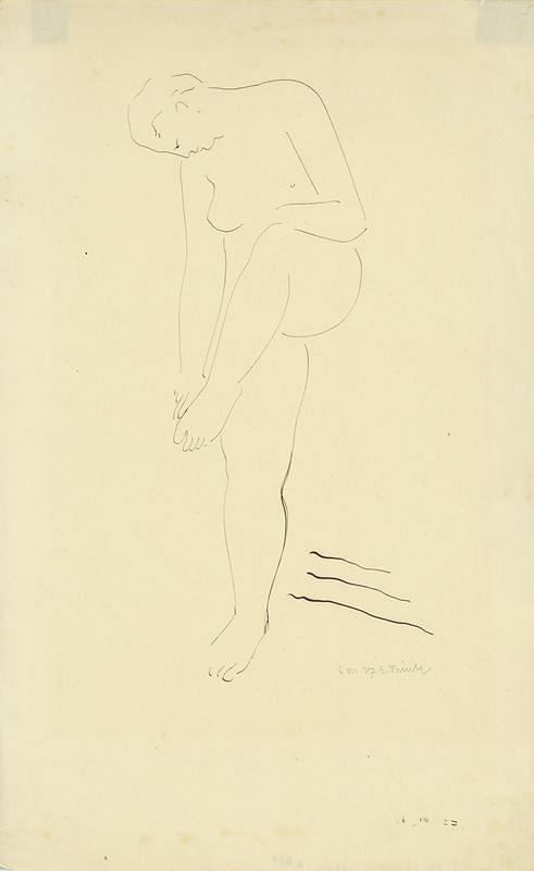 Emanuel Frinta – Žena s pokrčenou nohou