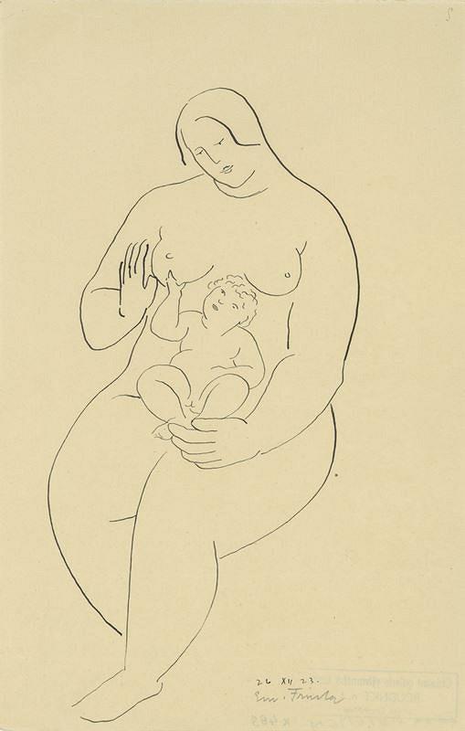 Emanuel Frinta – Žena s dítětem