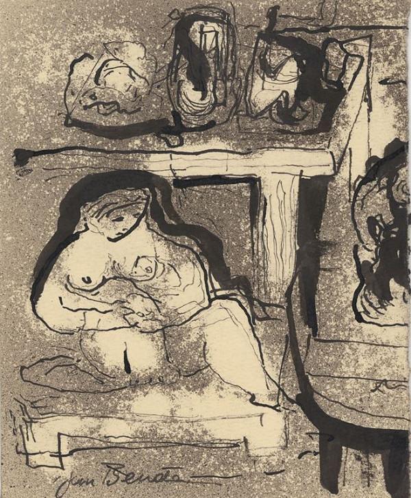 Jan Benda – Sedící žena