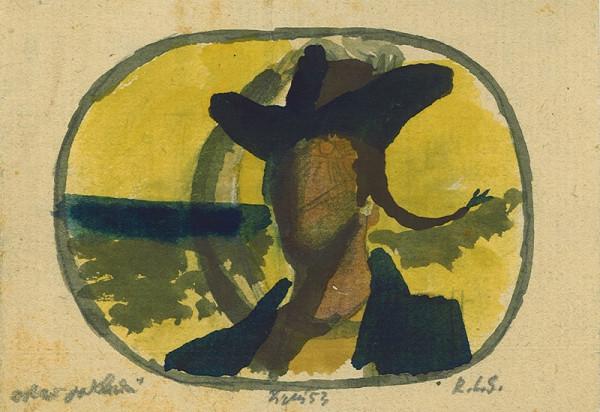 František Tichý – Kresba pro knihu R.L. Stevensona Ostrov pokladů