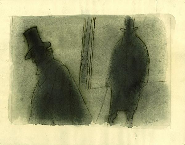 František Tichý - Návrh na ilustraci pro knihu J. Arbesa