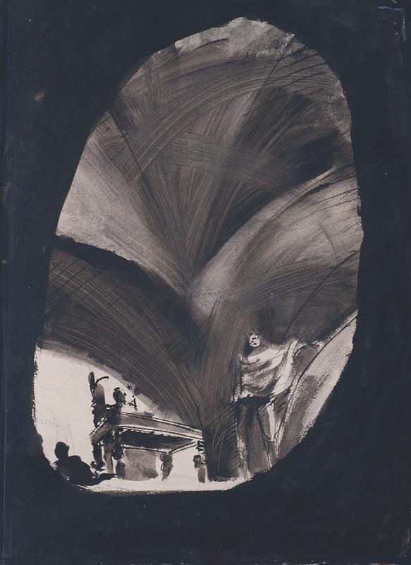 František Tröster – Studie k scénickému návrhu