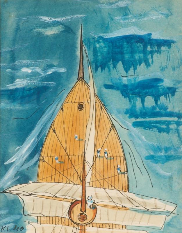 Kamil Lhoták - Plachetnica, 1940, Galerie moderního umění v Roudnici nad Labem