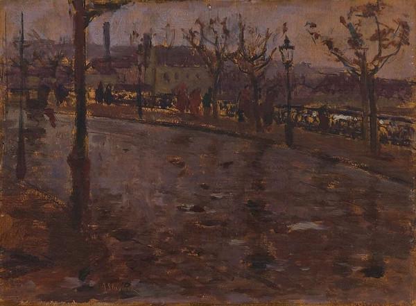 Antonín Slavíček – Nábřeží v dešti