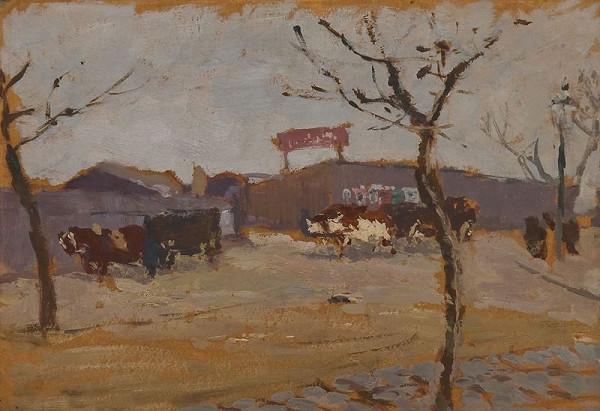 Antonín Slavíček – Na silnici před Davidem
