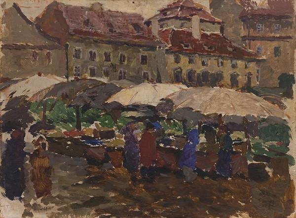 Antonín Slavíček - Uhelný trh v Praze