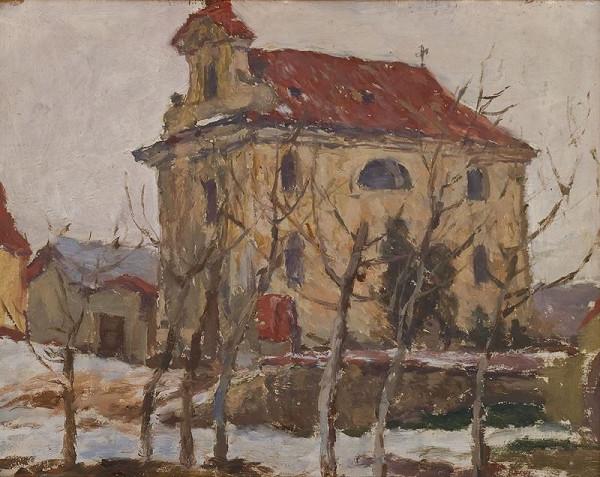 Antonín Slavíček – Kostel ve Štolmíři u Českého Brodu