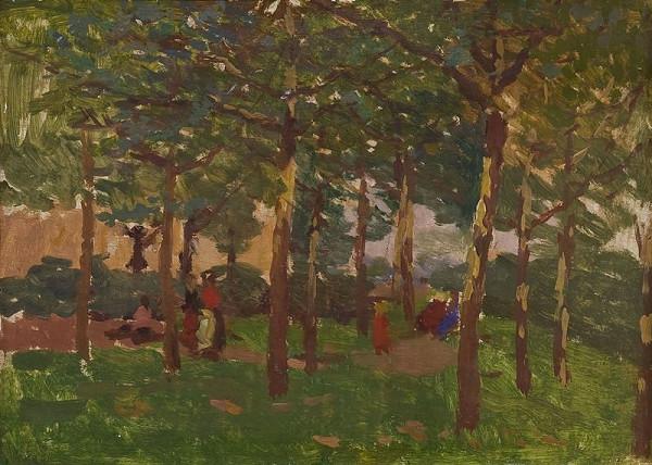 Antonín Slavíček - Na Letné v létě