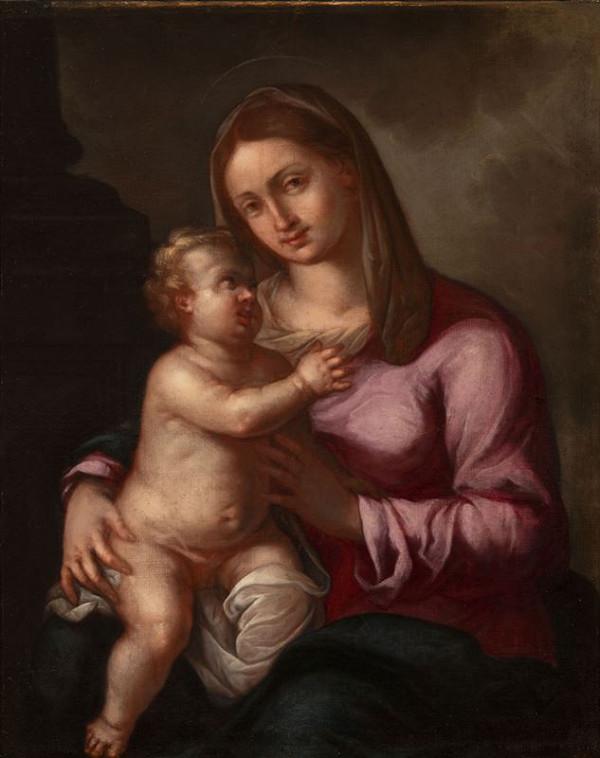 Neznámý italský (?) autor – Madona s Ježíškem