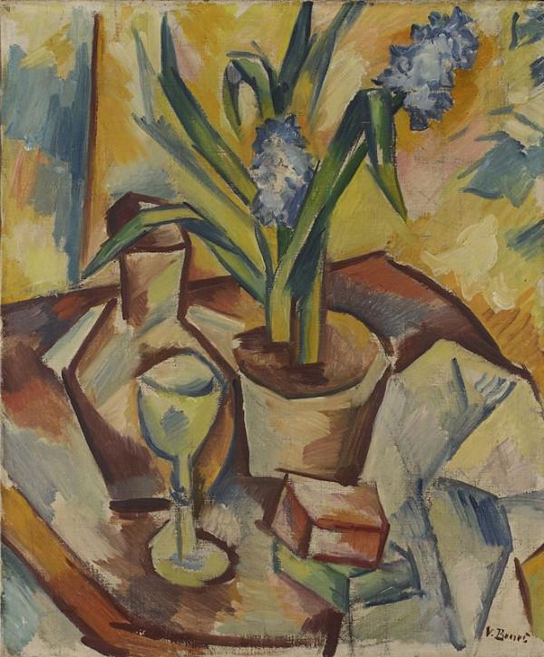 Vincenc Beneš – Zátiší s modrým hyacintem