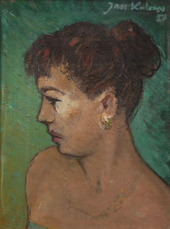 Jan Kalous – Portrét v zeleném