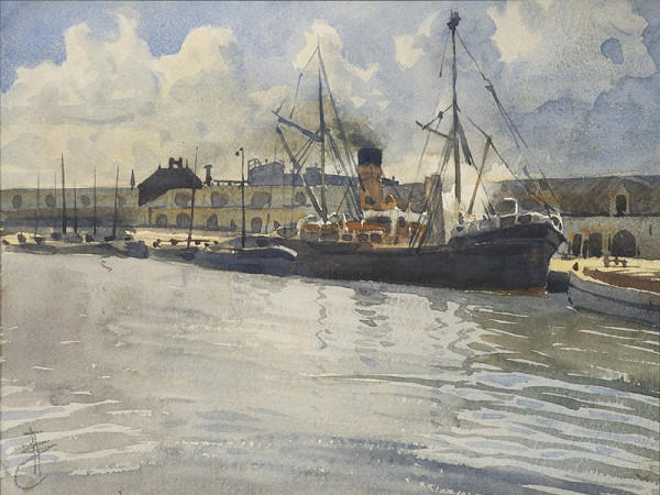 Jan Angelo Zeyer – Uhelný přístav v Bruggách
