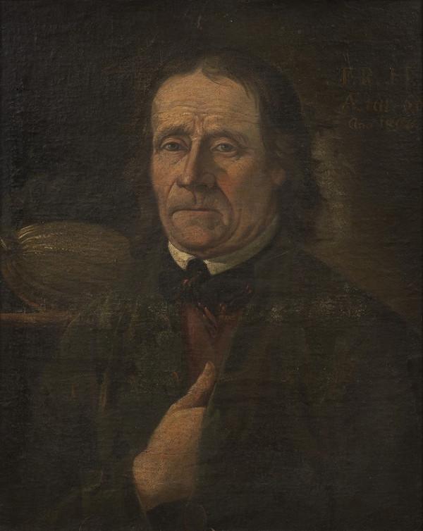 Neznámý autor (značka F.R.H.) - Portrét botanika