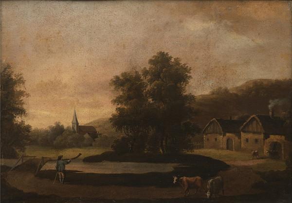 Neznámý holandský (?) autor – Krajina