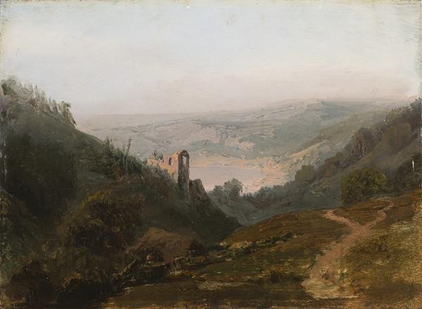 Julius Theodor Gruss – Krajina s hradem